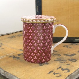 Mug Art Deco Roja